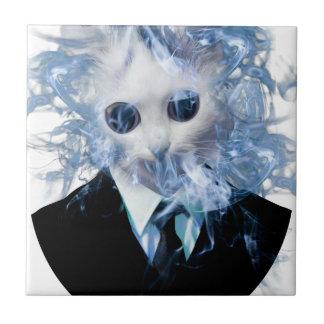Wellcoda猫のスーツの煙の風変わりな動物ペット タイル
