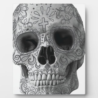 Wellcoda 3Dのスカルの恐怖顔のアズテック人の頭部 フォトプラーク