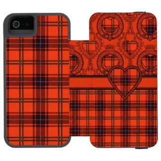 Wemyssの一族の格子縞のスコットランド人のタータンチェック iPhone SE/5/5sウォレットケース