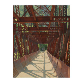 Wenatcheeの川上の水圧管のパイプライン橋 ウッドウォールアート