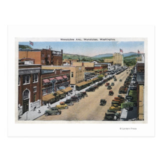 Wenatcheeの道の空中写真 ポストカード
