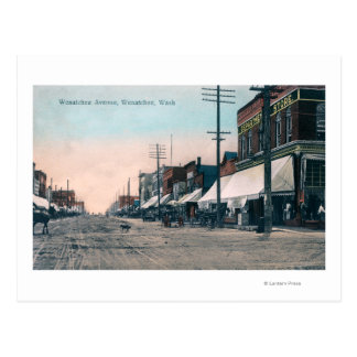 Wenatcheeの道の通りの眺め ポストカード
