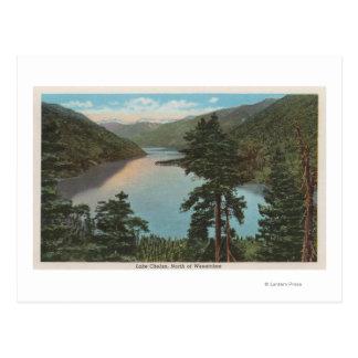 Wenatchee、湖ChelanのWAView ポストカード