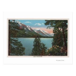 Wenatchee、湖WenatcheeのWAView ポストカード