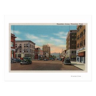 Wenatchee、Wenatchee Ave.のWAView ポストカード