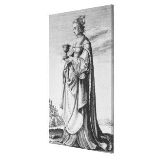 Wenceslaus Hollar著エッチングされるSt.バーバラ1647年 キャンバスプリント