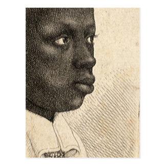 Wenceslaus Hollar著若い黒人 ポストカード