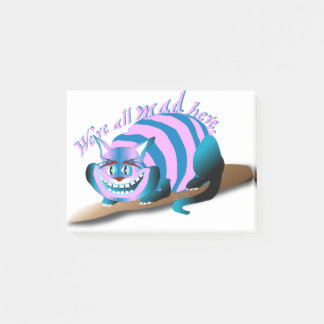 We're All Mad Here Cheshire Cat ポストイット