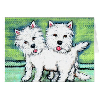West Highland Terrier White Dogs Note Card カード