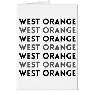 West Orangeニュージャージーのタイルのデザイン カード