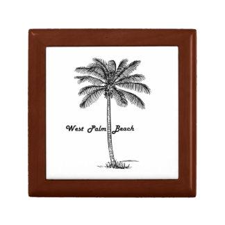 West Palm Beach及びやし白黒デザイン ギフトボックス