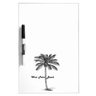 West Palm Beach及びやし白黒デザイン ホワイトボード
