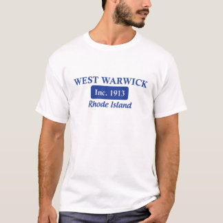 West Warwick青いロードアイランドのティー Tシャツ
