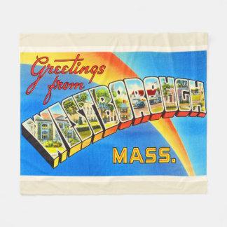 WestboroughマサチューセッツMA古い旅行記念品 フリースブランケット