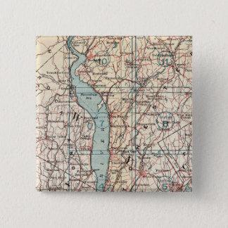 Westchester County、ニューヨークの地図 5.1cm 正方形バッジ