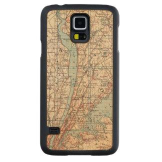 Westchester County、ニューヨークの地図 CarvedメープルGalaxy S5スリムケース