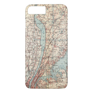 Westchester County、ニューヨークの地図 iPhone 8 Plus/7 Plusケース