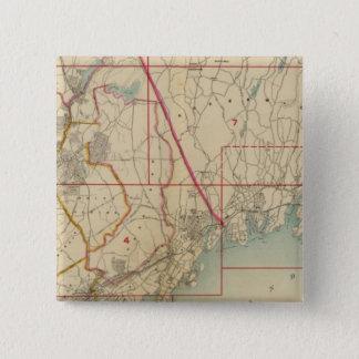 Westchester County、ニューヨーク 5.1cm 正方形バッジ