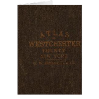 Westchester County、NYの地図書 カード