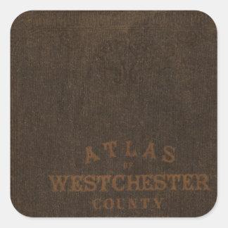 Westchester County、NYの地図書 スクエアシール