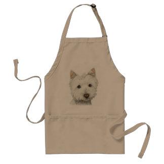 Westieかわいい犬 スタンダードエプロン
