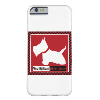Westieのチェッカー Barely There iPhone 6 ケース