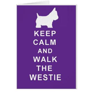 Westieのバースデー・カードは穏やかなスタイルを保ちます カード