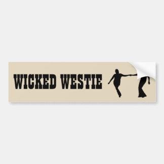 Westieの悪賢いバンパーステッカー バンパーステッカー