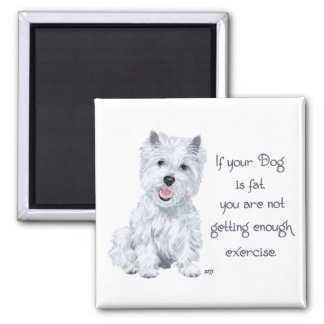 Westieの知恵-脂肪質犬か。 マグネット