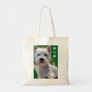 Westieの「こんにちは」ミイラのバッグのウエスト・ハイランド・ホワイト・テリア トートバッグ