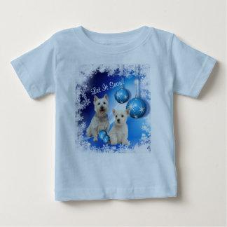 Westieはそれが挨拶休日の雪が降るようにしました ベビーTシャツ