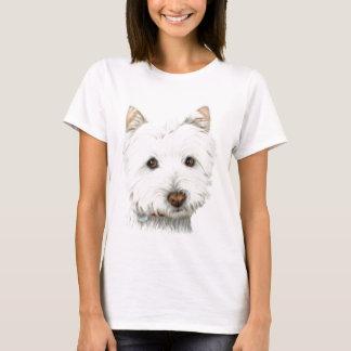Westieパステル調の犬 Tシャツ