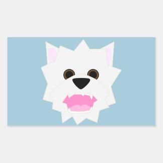 Westie愛 長方形シール
