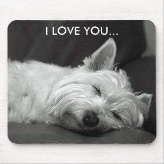 Westie犬のマウスパッド- I愛… マウスパッド