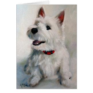 Westie西の高地テリア犬のスマイリーフェイスカード カード