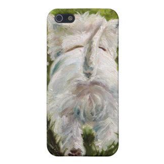 Westie西の高地テリア犬のiPhoneの場合 iPhone 5 Case