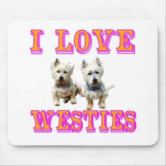 Westiesのマウスパッド マウスパッド