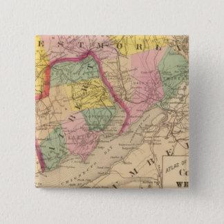 Westmorlandのアルバート郡、NB 5.1cm 正方形バッジ