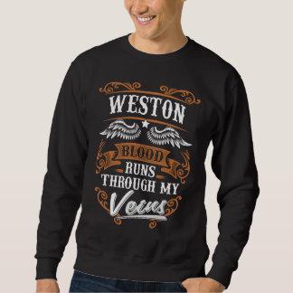 WESTONの血は私のVeiusによって走ります スウェットシャツ