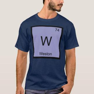 Weston一流化学要素の周期表 Tシャツ