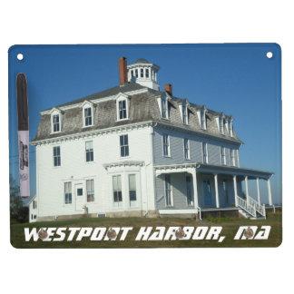 Westport港、固まり キーホルダーフック付きホワイトボード