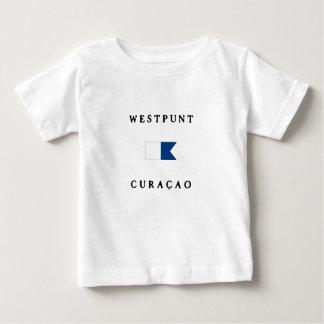Westpuntクラサオ島のアルファ飛び込みの旗 ベビーTシャツ