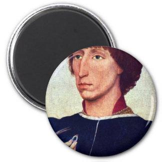 Weyden Rogier著フランチェスコD'Esteのポートレート マグネット