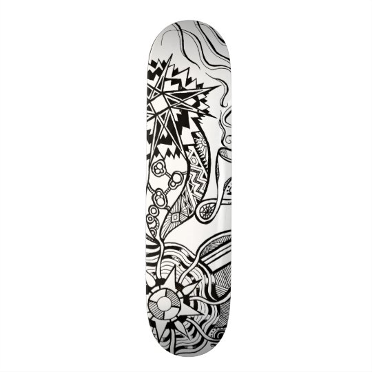 What is happening skateboard with doodle art オリジナルスケートボード