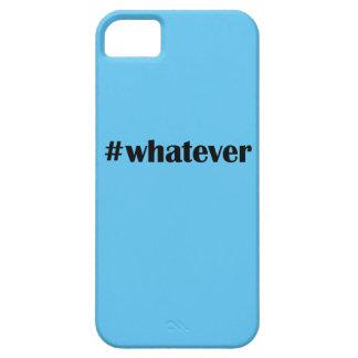 #whateverのIPhone 5の場合-声明、引用文 iPhone SE/5/5s ケース