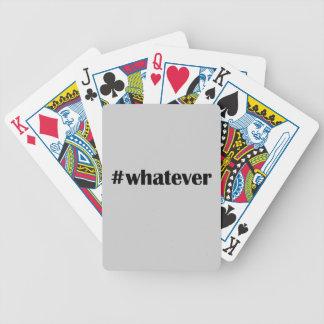 #whateverカード-声明、引用文 バイスクルトランプ