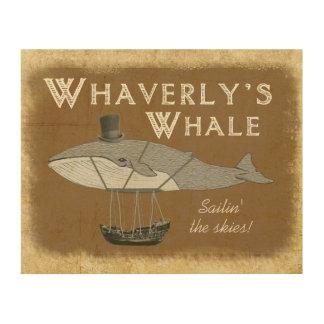 Whaverlyのクジラの木のプラク ウッドウォールアート