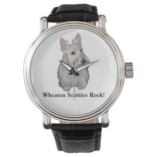 Wheatenスコッチテリアの石! 腕時計