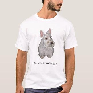 Wheatenスコッチテリアの規則! Tシャツ