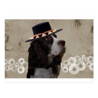 Wheatenテリア + 帽子 ポストカード